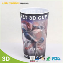 Durable Plastic Canister/Food Keep Canister/ Plastic Gift 3D Cup
