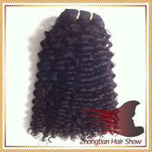 Specialized Human Virgin Hair Quality Indian Curly Hair Extension for Black Women