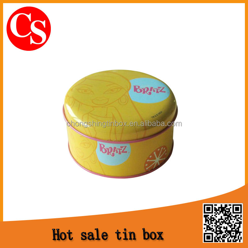 custom round gift tin box, round gift tin can