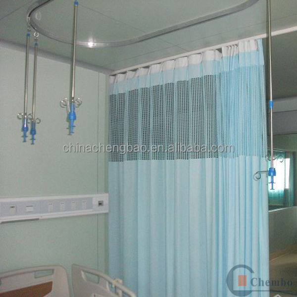 Latest designs of curtains antibacterial hospital bed curtains