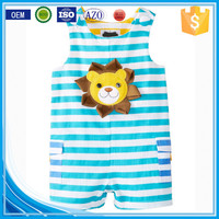 Applique summer wear sleeveless custom infant organic cotton newborn cheap wholesale used baby clothes