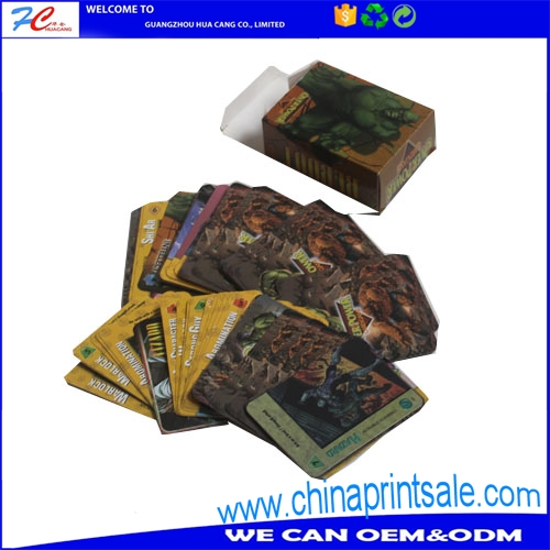Cheap custom game play card with high standard