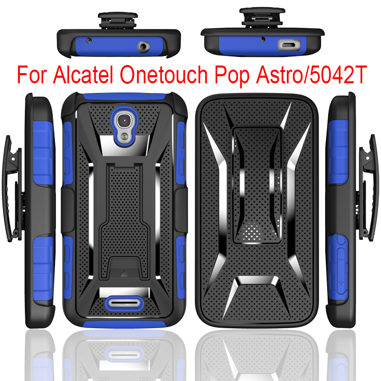 New Style Hybird Combo Holster Cell Phone Case For Alcatel 5042T,TPU+PC T Stand Case For Alcatel 5042T