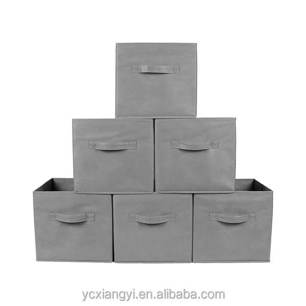 Lots Storage Bins Foldable Cube Basket Bin Fabric With Grommet
