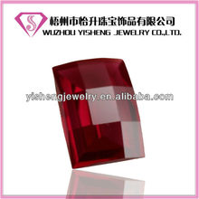 Faceted Barrel Shape Loose Ruby Stone