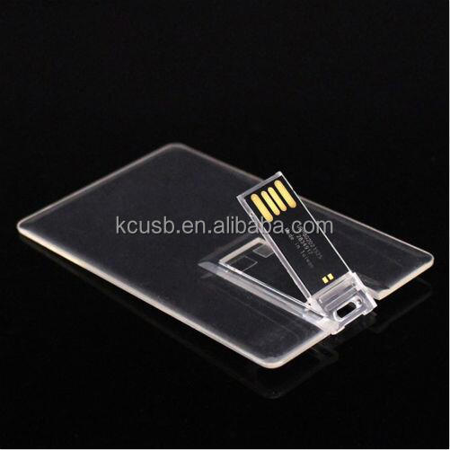 New style transparent usb card pen flash drive 1gb wholesale