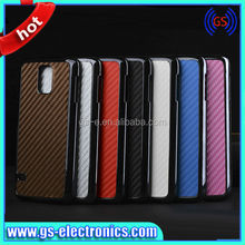 Carbon Fiber Leather Hard Cell Phone Case For Samsung Galaxy S5 i9600