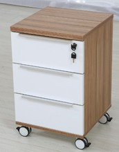 New Mobile Lockable Wood Office File Cabinet