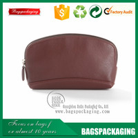 stylish genuine zipper makeup leather bags and cases