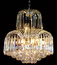 silvercolor decorative luxury modern crystal chandelier ceiling light /chandelier pendant lightfor hotel /wedding hall/palace