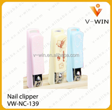 cute kids nail clipper with cartoon plastic cover