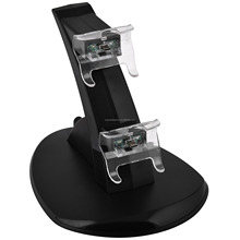 New Black Charging Charger Stand Station Dock Dual For Xbox One / Xbox One S Controller
