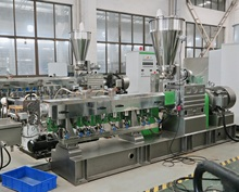 pet flake bottle regrinds twin screw extruder recycling machinery for granulating
