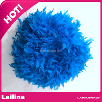 Bule Color Turkey Feather for Sale /Feathers fpr Sale Cheap / Turkey Feather from Guangzhou Supplier