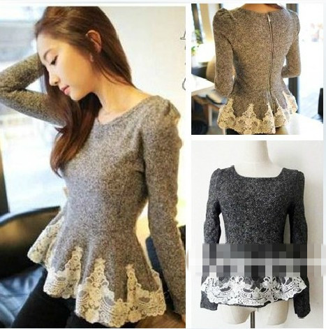 2013 KOREA FASHION WOMENS KNITTING FANCY TOPS SWEATERS
