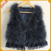 Wholesale Winter Waistcoat Turkey Feather Fur Vests