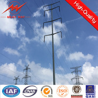 professional multisided electrical power pole for overhead line project