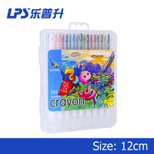 18 Colors PP Box Pack Crayon Set For Children Gift Twist Up Oil Silky Non Toxic Crayon Pen