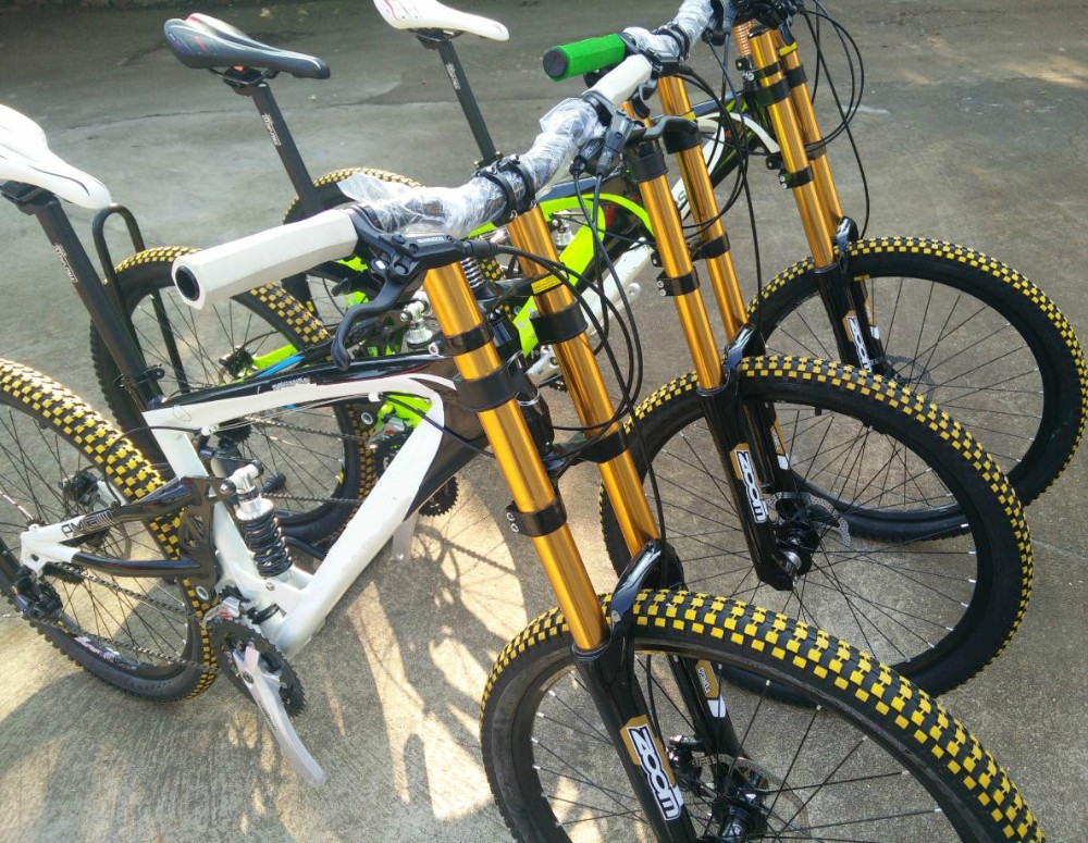 26*2.4tires Soft-tail Frame,Downhill Mountain Bike,27s M4000,Dh ...