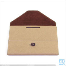 Ultra-thin brief case style leather cover case for ipad mini P-iPDMINICASE114