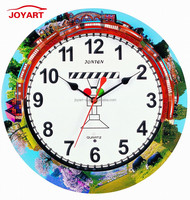 Joyart Train running style Creative wall clock with chime