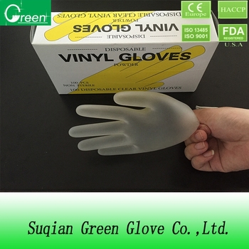 disposable gloves/powdered gloves/vinyl pvc gloves