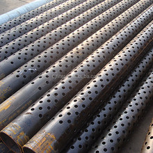 32 inch carbon steel water well drill spiral perforated pipe used