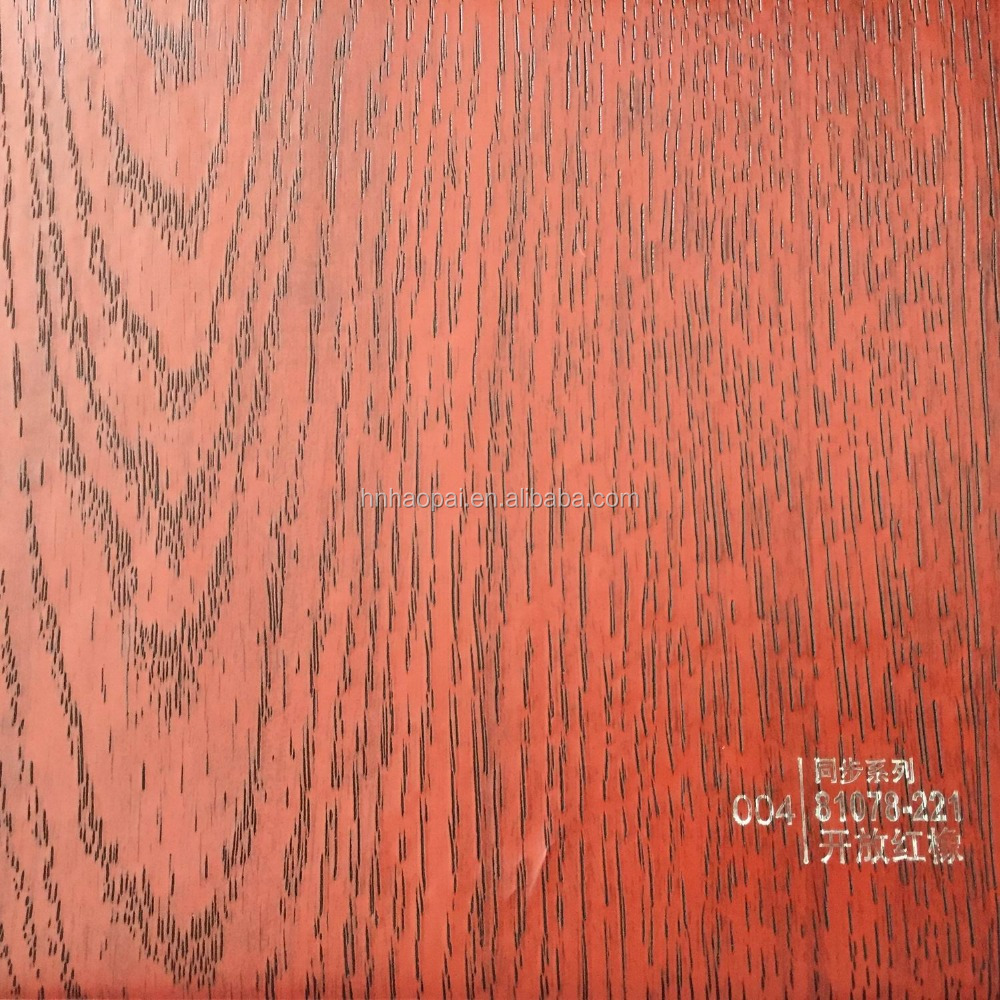 synchronous wood Decorative,Waterproof Function and Wall decorative films /pvc paper/pvc membrane