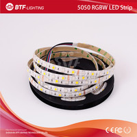 5m 60leds/m 5050 rgbw led strip RGB+Warm White strip Waterproof IP65 White PCB DC12V SMD 5050 Mixed color