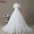 SL-5 Custom Made Wedding Dress Crystal Pearl Lace Bridal Gown China 2017