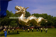 customized inflatable gold dragon/ giant inflatable advertising gold dragon model/ PVC inflatable gold dragon balloon