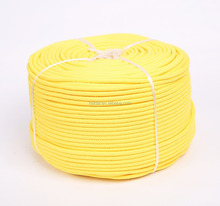 round 6mm yellow color 16 strand Polypropylene Rope