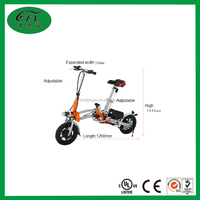 Brushless Motor 36V Orange Foldable Electric Bike