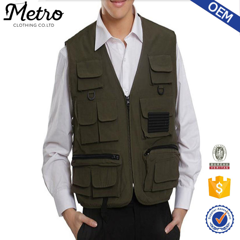 Wholesale 2015 Fashion Custom Fishing Vest For Men