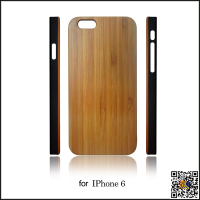 4.7-inch PC bottom wood case for iphone 6, wood case