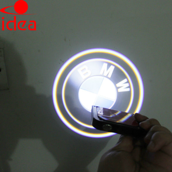 auto led ghost shadow front door light customizing car logo