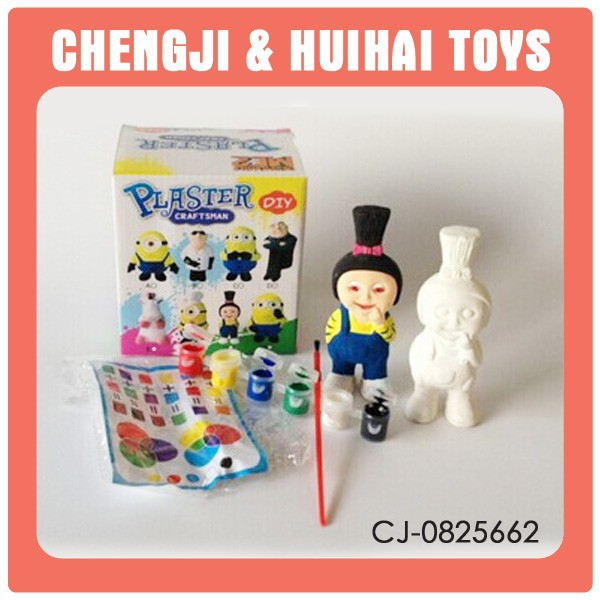 Doll diy painting set ceramic figurines to paint