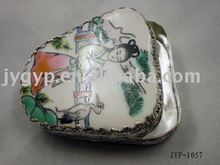 chinese handmade dressing cases cosmetic boxes silver retro make up boxes cases