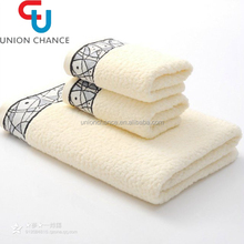 Good Quality Thin White 100 Cotton Face Towel And Bath Towel Set