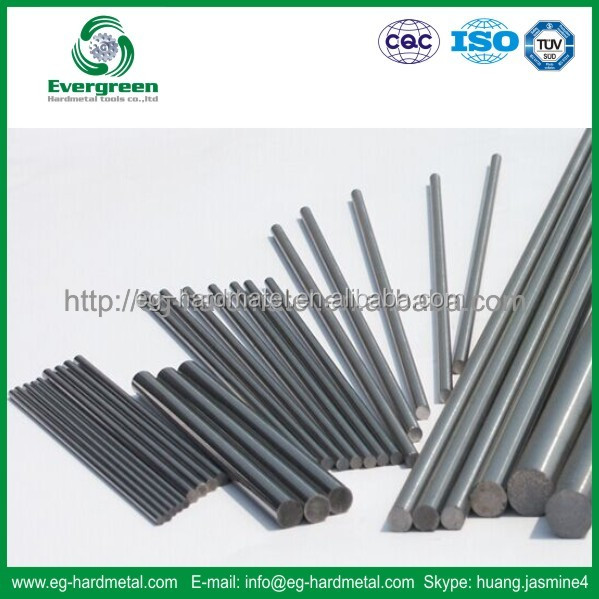 Evergreen yl10.2 tungsten carbide rods with holes,solid carbide rod