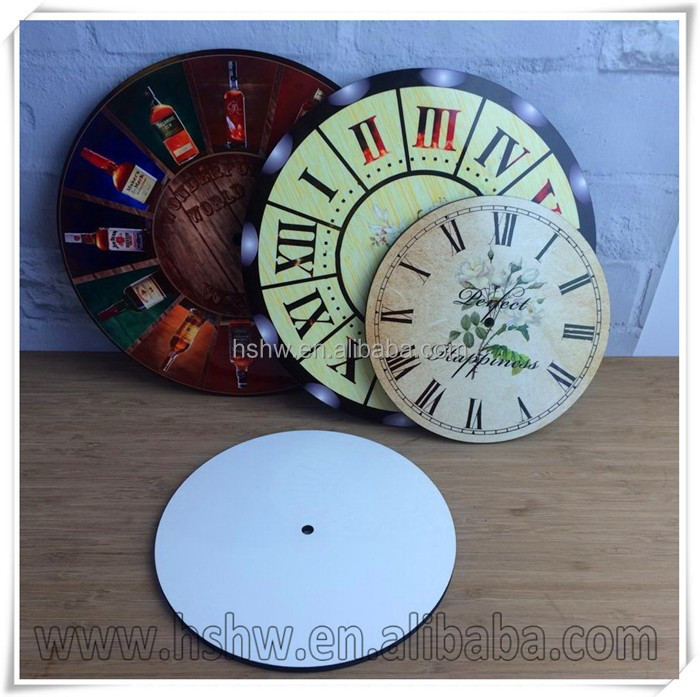 Heat press wooden clock dial face