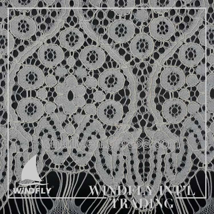 Wide cord frech Eyelash Lace Fabrics India