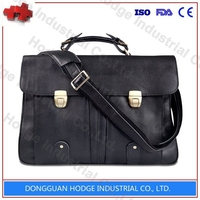 Genuine Leather business manufacture laptop computer bag