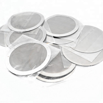 Round shape 61.5mm 62mm 63mm metal coffee strainer disc