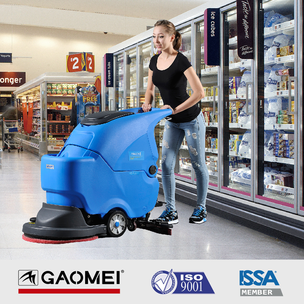 Wet industrial manual electric floor sweeper R50B for floor tile cleaning