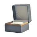 High Grade Brown Leather Watch Box Made Of Paperboard With Sponge Insert