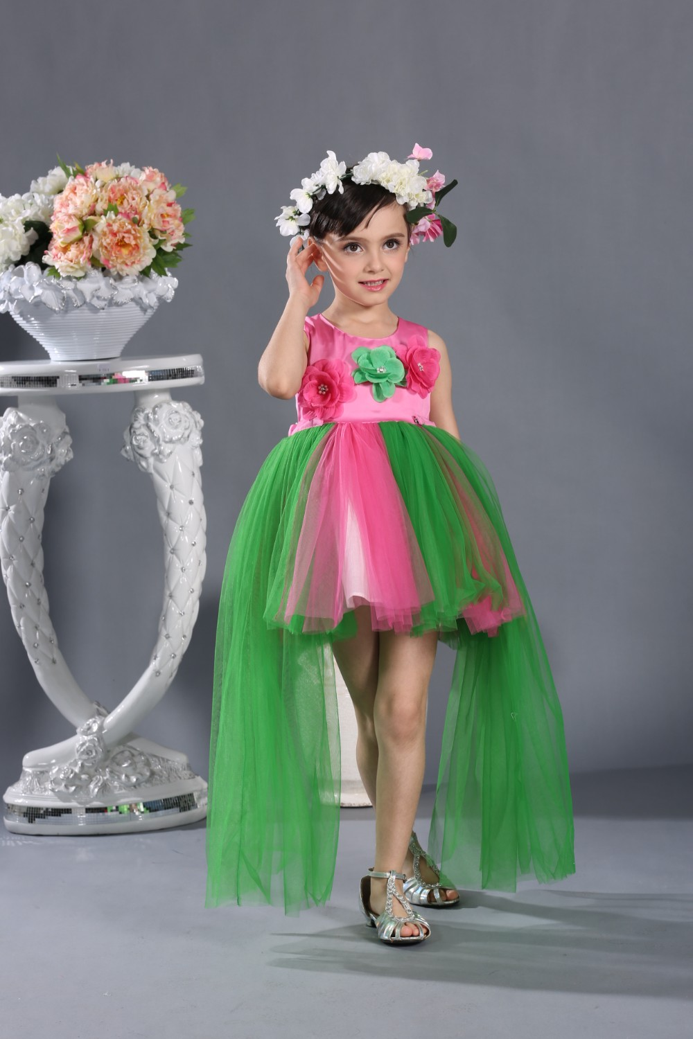2016 Summer Girl Party Dress Fashion Frock For Kids