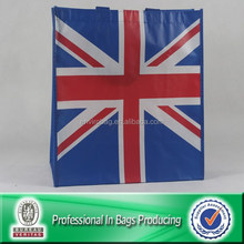PP non woven UK flag printed bag