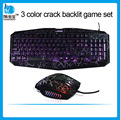 Trade Assurance colorful mouse Crack Led backlit keyboard and mouse