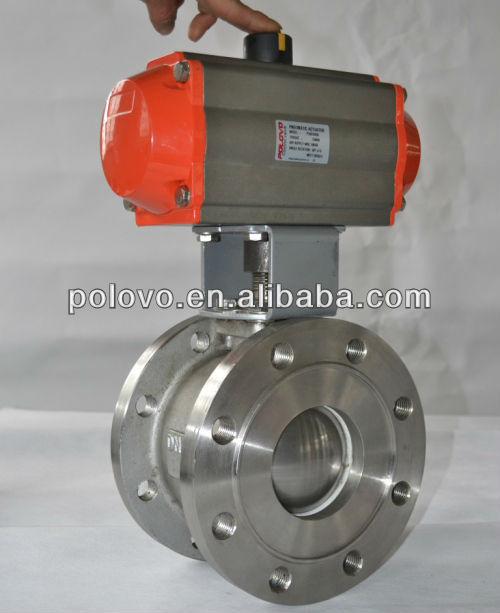Stainless steel flanged end wafer type ball valve